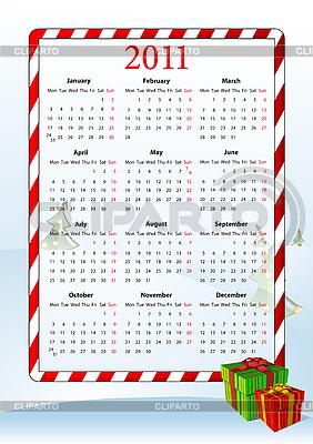 Vector illustration of European calendar 2011 | Klipart wektorowy |ID 3022283