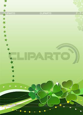 Dekorativer Hintergrund mit Kleeblätter | Stock Vektorgrafik |ID 3022682