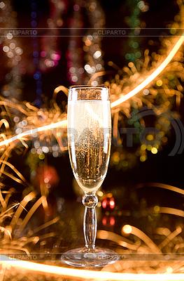 Silvester-Karte mit Champagner | Foto mit hoher Auflösung |ID 3023230