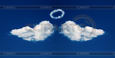 Ангельские крылья и нимб из облаков | Фото большого размера |ID 3023318