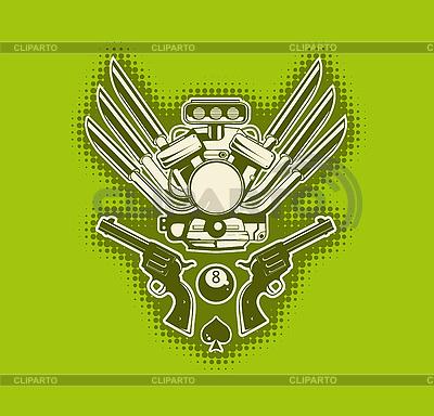 Zielony stylowe tapety | Klipart wektorowy |ID 3023496