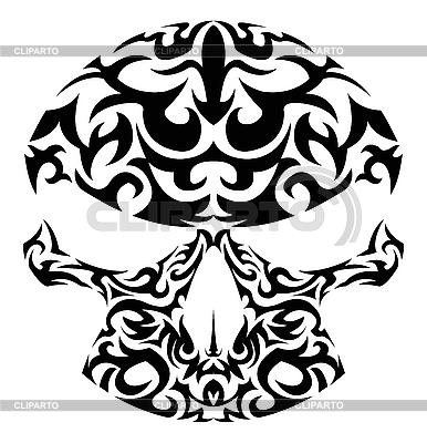 Tribal tatuaż czaszki | Klipart wektorowy |ID 3023574
