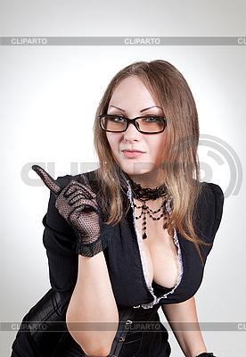 училка в очках в сперме порно фото