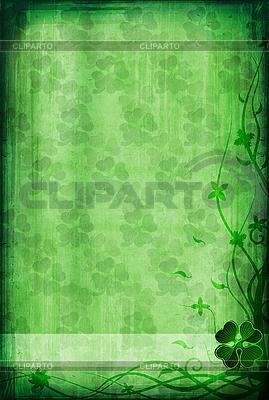 Grunge Hintergrund mit Klee | Illustration mit hoher Auflösung |ID 3023693