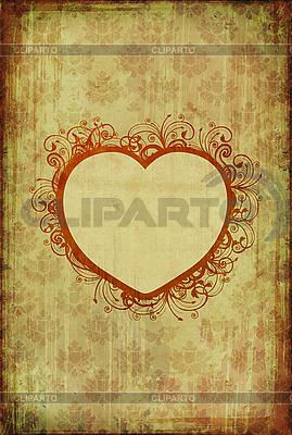 Vintage tapety z kwiatowym sercem | Stockowa ilustracja wysokiej rozdzielczości |ID 3023700