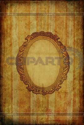 Vintage tapety z owalnej ramie | Stockowa ilustracja wysokiej rozdzielczości |ID 3023701