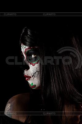 糖骷髅女孩的肖像 | 高分辨率照片 |ID 3038296