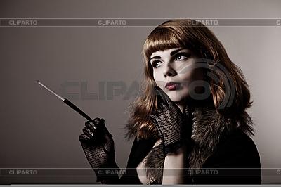 迷人的复古女人 | 高分辨率照片 |ID 3092628