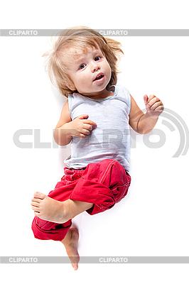 Lustiger Junge in roter Hose | Foto mit hoher Auflösung |ID 3102876