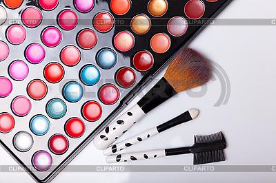 Błyszczyk paleta ze szczotkami | Foto stockowe wysokiej rozdzielczości |ID 3110068
