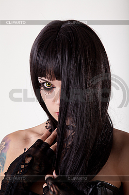 노란색 눈을 가진 젊은 고딕 여자 | 높은 해상도 사진 |ID 3113114