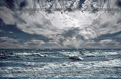Big fal oceanicznych zerwania brzegu | Foto stockowe wysokiej rozdzielczości |ID 3019814