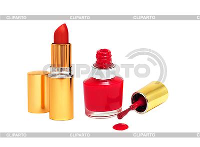 Rozlane czerwony do paznokci i Red Lipstick | Foto stockowe wysokiej rozdzielczości |ID 3019848