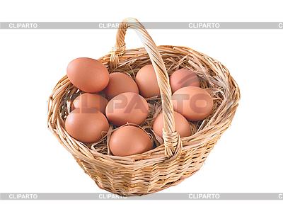 Eier im Korb | Foto mit hoher Auflösung |ID 3019918