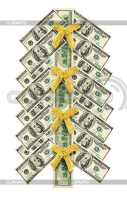 Weihnachtsbaum aus Dollarnoten | Foto mit hoher Auflösung |ID 3063312