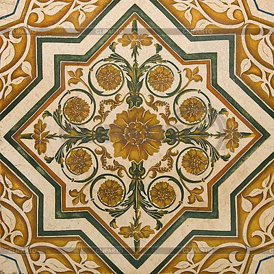Ornament na marmurowej podłodze | Foto stockowe wysokiej rozdzielczości |ID 3063695