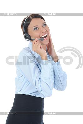 Piękne młoda kobieta w słuchawek | Foto stockowe wysokiej rozdzielczości |ID 3021608