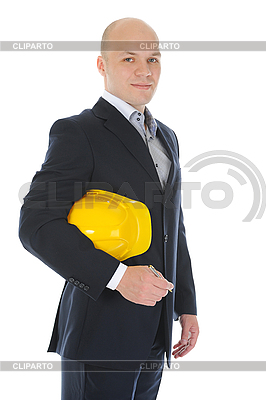 Бизнесмен со строительным шлемом | Фото большого размера |ID 3021846