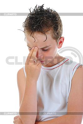 Nachdenklicher Junge | Foto mit hoher Auflösung |ID 3021948