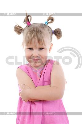 Zabawna dziewczyna w różowym. | Foto stockowe wysokiej rozdzielczości |ID 3022033