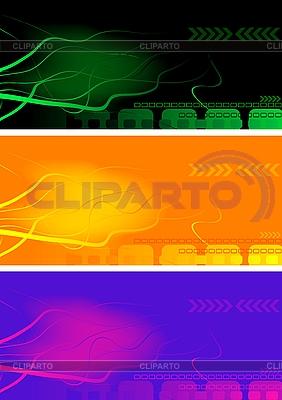 Jasne streszczenie banery | Klipart wektorowy |ID 3022918