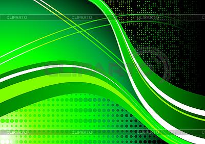 Streszczenie zielone fale | Klipart wektorowy |ID 3022948