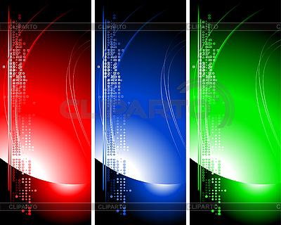Zestaw jasne technicznych transparenty | Klipart wektorowy |ID 3022968