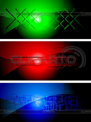 Set der dunklen Werbebanner | Stock Vektorgrafik |ID 3023027