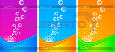Vertikale Werbebanner mit Blasen | Stock Vektorgrafik |ID 3023051