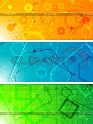 Geometrische abstrakte Werbebanner | Stock Vektorgrafik |ID 3024055