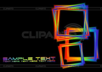 Hintergrund mit irisierenden Quadraten | Stock Vektorgrafik |ID 3024157