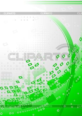 抽象的绿色背景 | 向量插图 |ID 3024169