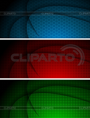 Abstrakte wellige Werbebanner | Stock Vektorgrafik |ID 3024565