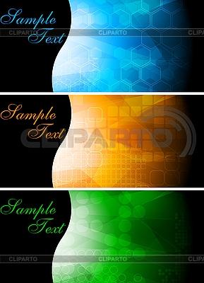 Set von hellen technischen Werbebanner | Stock Vektorgrafik |ID 3024667