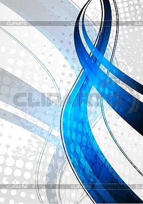 Blue fale na szarym tle | Klipart wektorowy |ID 3024708
