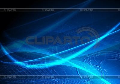 Blaue wellenförmige Abstraktion | Stock Vektorgrafik |ID 3024746