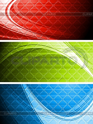 Bright bannery kolekcji | Klipart wektorowy |ID 3024776
