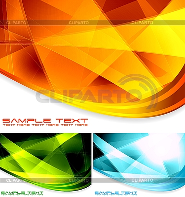 Kolekcja abstrakt | Klipart wektorowy |ID 3024850