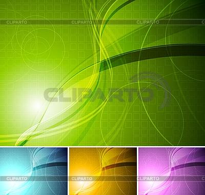 Bunte stilvolle Hintergründe | Stock Vektorgrafik |ID 3024888