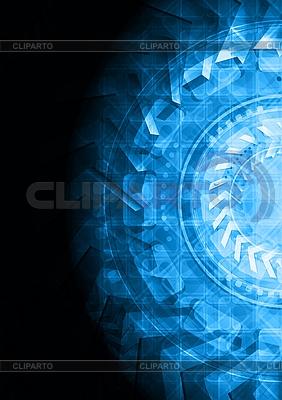 Dunkler stilvoller High-Tech-Hintergrund | Stock Vektorgrafik |ID 3024924
