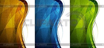 Jasne tech banery | Klipart wektorowy |ID 3024970