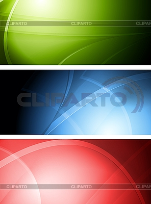 Set der abstrakten Banner | Stock Vektorgrafik |ID 3025016