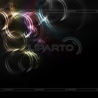 Schwarzer Hintergrund mit bunten Kreisen | Stock Vektorgrafik |ID 3026183