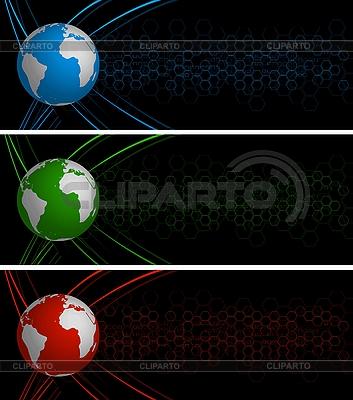 Abstrakte globale Werbebanner | Stock Vektorgrafik |ID 3026189