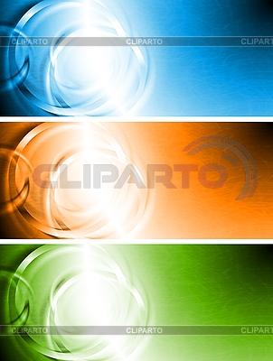 Jasne transparenty z pierścieniami | Klipart wektorowy |ID 3026239