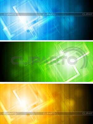Abstrakte Werbebanner | Stock Vektorgrafik |ID 3026536