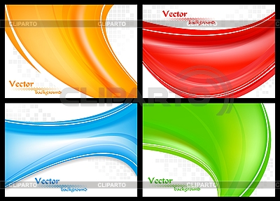 Abstrakcyjne kolorowe fale | Klipart wektorowy |ID 3026574
