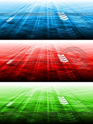 Helle technische Werbebanner | Stock Vektorgrafik |ID 3027880