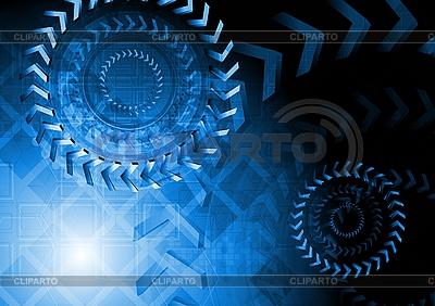 Niebieski projekt techniczny | Klipart wektorowy |ID 3032415