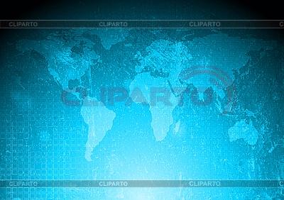 Blaue Weltkarte | Stock Vektorgrafik |ID 3051306